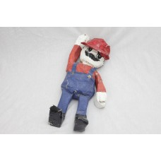 A Papier-Mache Mario made by my brother Theo