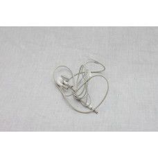 A used pair of Apple earbuds